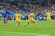 Romania Forward Bogdan Stancu celebrates his goal during the Group A Euro 2016 match between France and Romania at the Stade de France, Saint-Denis, Paris, France on 10 June 2016. Photo by Phil Duncan.