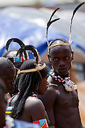 Africa, Ethiopia, Omo region, Ari Tribe couple Photographed at the cattle market