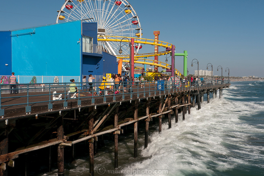 Santa Monica Beach and Pier. Los Angeles, CA.