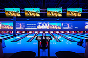 The bowling alley at Main Event Entertainment.