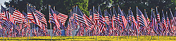 May 24, 2019 - Cincinnati, Ohio, USA - Flags stand tall in the Crematory Memorial Park in Cincinnati,Ohio.On Fri May 24,2019 as they prepare for Memorial Day event. To pay respect  to USA  warrior who lost there lives. (Credit Image: © Ernest Coleman/ZUMA Wire)