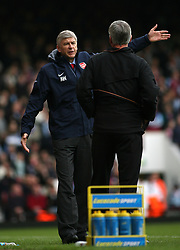 FILE PHOTO: Arsene Wenger is to leave Arsenal at the end of the season, ending a near 22-year reign as manager<br /><br />Arsenal manager Arsene Wenger shows his frustration towards West Ham United manager Alan Pardew ... Soccer - FA Barclays Premiership - West Ham United v Arsenal - Upton Park ... 05-11-2006 ... london ... United Kingdom ... Photo credit should read: Nigel French/EMPICS Sport. Unique Reference No. 4118362 ...