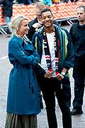 Koningsdag 2019 in Amersfoort / Kingsday 2019 in Amersfoort.<br /> <br /> Op de foto: Dionne Stax en Igmar Felicia