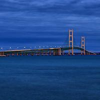 """Night on Mackinac Bridge"""