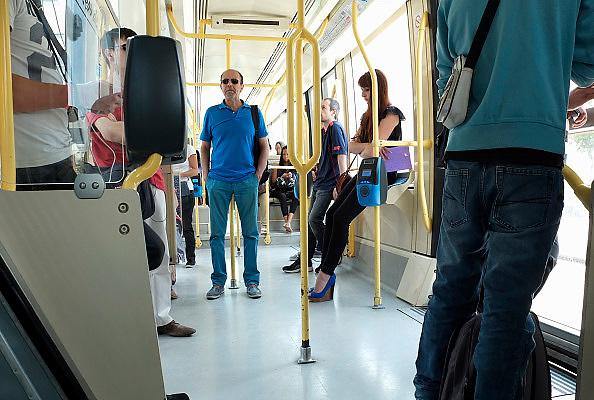 Frankrijk, Orleans, 1-9-2013Stadsbeeld van het centrum van de stad, stadscentrum Tram, openbaar, vervoer, transport, stadsvervoer, mobiliteit.Foto: Flip Franssen/Hollandse Hoogte