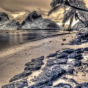 Beaches of Ofu island in American Samoa, South Pacific.