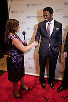 Randi Zuckerberg at the UN Gala in New York where she interviewed United Nations Secretary-General's Special Envoy for Malaria, Ray Chambers, and rapper 50 Cent live on Facebook....Photo by Robert Caplin.