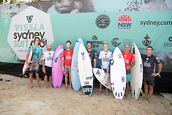 March 23, 2019 - Manly Beach, NSW, Australia - KELLY SLATER and TOM CARROLL at Charity masters envoy at Vissla Pro. (Credit Image: ? Ethan Smith/WSL via ZUMA Wire/ZUMAPRESS.com)]