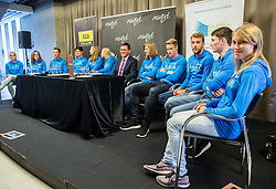 Marusa Mismas (R) during press conference of The Athletic Federation of Slovenia and their best athletes before summer season 2016, on May 16, 2016, in Maximarket, Ljubljana, Slovenia. Photo by Vid Ponikvar / Sportida