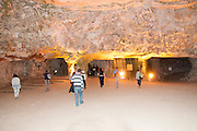 Israel, Jerusalem, Zedekiah's Cave – also known as Solomon's Quarries – is a 5-acre (20,000 m2) underground meleke limestone quarry that runs the length of five city blocks under the Muslim Quarter of the Old City. This cave was used (or maybe still used) for meetings of the Freemasons The main hall