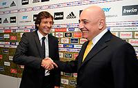 Leonardo nuovo allenatore del Milan con l'amministratore delegato Adriano Galliani<br /> Milano 01/06/2009<br /> Foto Insidefoto