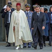 LUX/Luxemburg/20190504 -  Funeral<br /> of HRH Grand Duke Jean, Uitvaart Groothertog Jean, Prins Moulay Rachid van Marokko en Nicolas Sarkozy