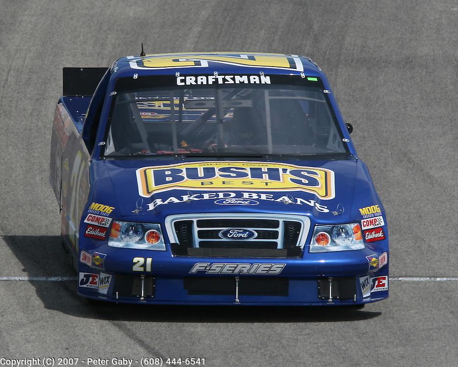 Kelly Bires #21 Wood Bros/JTG Racing Ford during practice on Fri. June 22, 2007