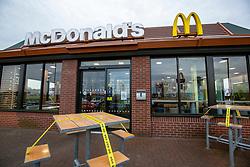 The McDonalds at Newbridge. Traffic towards Edinburgh on the morning after the Lockdown.