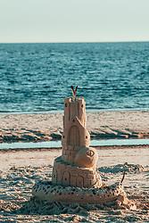 THEMENBILD - eine Sandburg am Strand von Pensacola, aufgenommen am 06.01.2019, Pensacola, Vereinigte Staaten von Amerika // a sand castle at Pensacola beach, Pensacola, United States of America on 2019/01/06. EXPA Pictures © 2019, PhotoCredit: EXPA/ Florian Schroetter