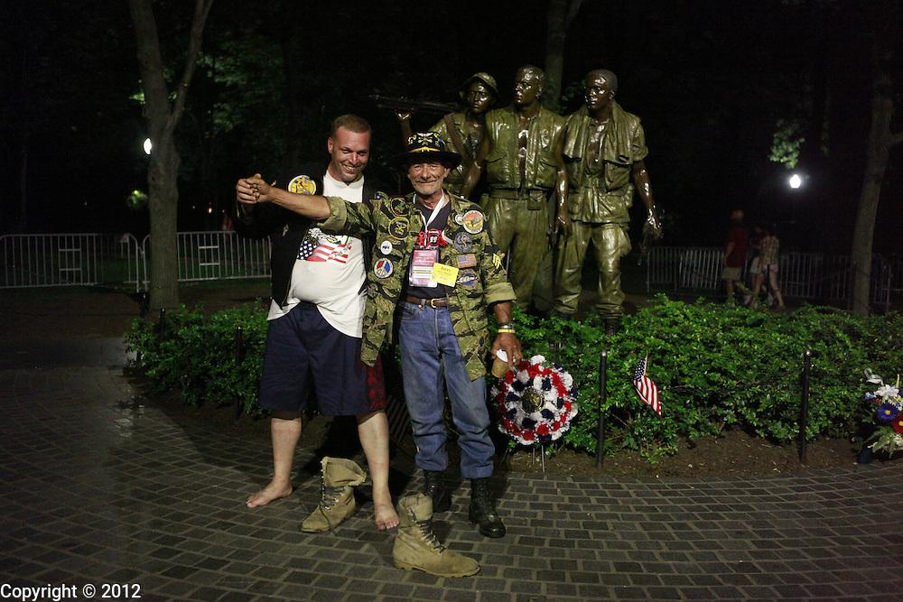 at the Vietnam Veterans Memorial Wall.