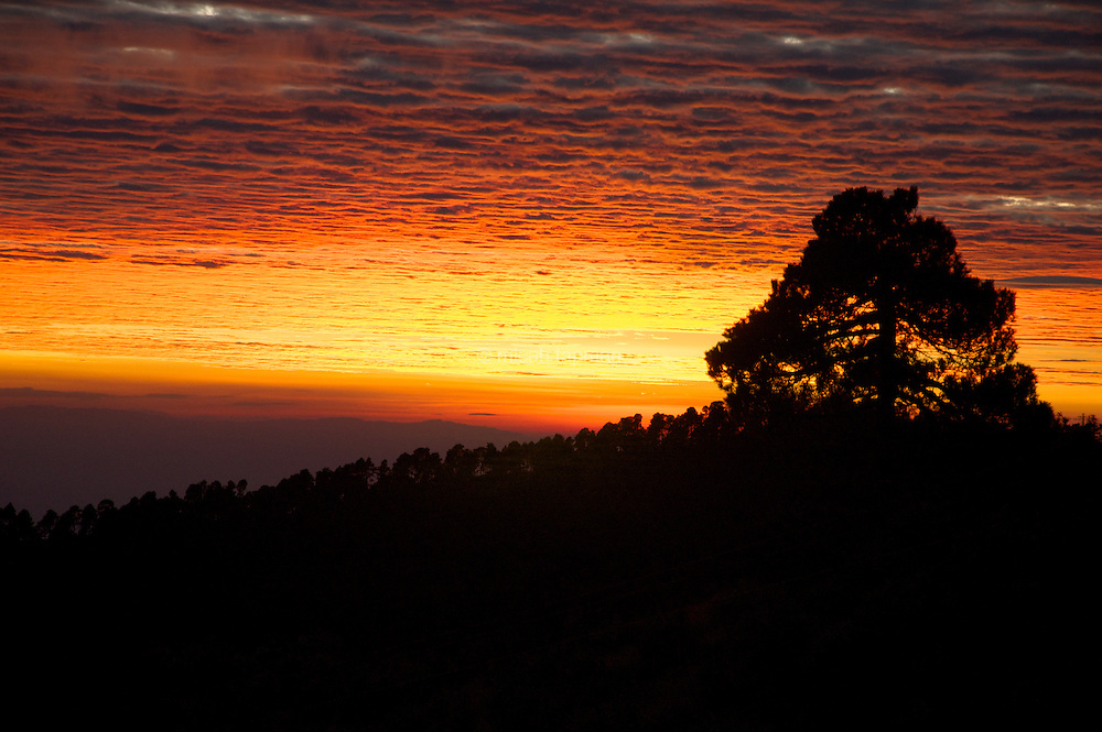 Sunset from the slopes of Iztaccihuatl in central Mexico.