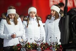 Ceremony at the Ladies' Slalom at 56th Golden Fox event at Audi FIS Ski World Cup 2019/20, on February 16, 2020 in Podkoren, Kranjska Gora, Slovenia. Photo by Matic Ritonja / Sportida
