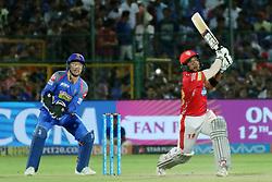 May 8, 2018 - Jaipur, Rajasthan, India - Kings XI Punjab team batsman Akashdeep Nath plays a shot during the IPL T20 match against Rajasthan Royals at Sawai Mansingh Stadium in Jaipur,Rajasthan,India on 8th May,2018.(Photo By Vishal Bhatnagar/NurPhoto) (Credit Image: © Vishal Bhatnagar/NurPhoto via ZUMA Press)