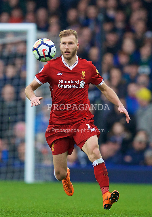 LIVERPOOL, ENGLAND - Saturday, April 7, 2018: Liverpool's Ragnar Klavan during the FA Premier League match between Everton and Liverpool, the 231st Merseyside Derby, at Goodison Park. (Pic by David Rawcliffe/Propaganda)