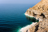 The Dead Sea is a salt lake bordering Jordan to the east and Israel and the West Bank to the west.