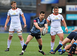 Tomos Williams of Cardiff Blues kicks the ball - Mandatory by-line: Nizaam Jones/JMP- 24/03/2018 - RUGBY - BT Sport Cardiff Arms Park- Cardiff, Wales - Cardiff Blues v Ulster Rugby - Guinness Pro 14
