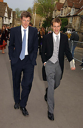 Left to right, brothers ZAC & BEN GOLDSMITH at the wedding of Laura Parker Bowles to Harry Lopes held at Lacock, Wiltshire on 6th May 2006.<br /><br />NON EXCLUSIVE - WORLD RIGHTS