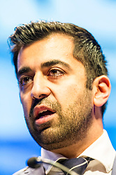 Pictured: Humza Yousaf, MSP, spoke to conference on Making Scotland's Voice Heard<br /> The members of the SNP gathered in the Scottish Events Centre in Glasgow for their annual conference.<br /> <br /> Ger Harley | EEm 9 October 2017