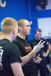 Stef Noij, KMG Instructor from the Institute Krav Maga Netherlands, takes the November GLP session today at the Scottish Martial Arts Centre, Alloa.