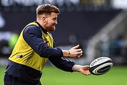 Cardiff Blues' Macauley Cook during the pre match warm up<br /> <br /> Photographer Craig Thomas/Replay Images<br /> <br /> Guinness PRO14 Round 13 - Ospreys v Cardiff Blues - Saturday 6th January 2018 - Liberty Stadium - Swansea<br /> <br /> World Copyright © Replay Images . All rights reserved. info@replayimages.co.uk - http://replayimages.co.uk