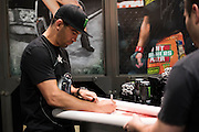 LAS VEGAS, NV - JULY 10:  Dominick Cruz visits with fans during UFC Fan Expo Day 3 at the Las Vegas Convention Center on July 10, 2016 in Las Vegas, Nevada. (Photo by Cooper Neill/Zuffa LLC/Zuffa LLC via Getty Images) *** Local Caption *** Dominick Cruz