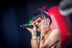Lily Allen plays the main stage on Sunday at Glasgow Green, BBC Radio 1's Big Weekend Glasgow 2014.