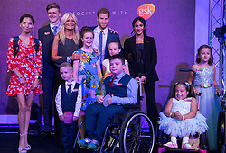 The Duke and Duchess of Sussex attend the annual WellChild Awards at The Royal Lancaster Hotel, London, UK, on the 4th September 2018. Picture by Victoria Jones/WPA-Pool. 04 Sep 2018 Pictured: Prince Harry, Duke of Sussex, Meghan Markle, Duchess of Sussex. Photo credit: MEGA TheMegaAgency.com +1 888 505 6342