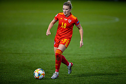NEWPORT, WALES - Thursday, October 22, 2020: Wales' Kylie Nolan during the UEFA Women's Euro 2022 England Qualifying Round Group C match between Wales Women and Faroe Islands Women at Rodney Parade. Wales won 4-0. (Pic by David Rawcliffe/Propaganda)