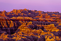 Sunrise, Big Badlands Overlook, Badlands National Park, South Dakota USA