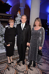 Una Stubbs, Martin Freeman, Julia Donaldson at a glittering St Paul's Cathedral carol concert to celebrate Childline's 30th anniversary hosted by the NSPCC in the presence of HRH The Countess of Wessex., London England. 13 December 2016.