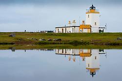 Lighthouse at Eshaness on Northmavine, north mainland, Shetland, Scotland, UK