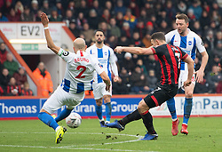 AFC Bournemouth's Marc Pugh scores his side's first goal of the game