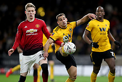 Manchester United's Scott McTominay in action with Wolverhampton Wanderers' Jonny Castro