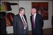 JAMES MAYOR; ALAN HOBART, Allen Jones private view. Royal Academy,  London. 11 November  2014.