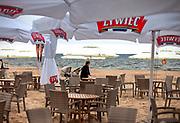 Kawiarnia na plaży w Sopocie.