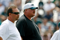 Bethlehem, PA - August 2nd 2008 - Head Coach Andy Reid oversees activities during the Philadelphia Eagles Training Camp at Lehigh University (Photo by Brian Garfinkel)