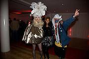 RUSSELA AND DR. NOKI, Scarlet launch.- LG Scarlet TV. 1 Marylebone. London NW1. 30 April 2008. *** Local Caption *** -DO NOT ARCHIVE-© Copyright Photograph by Dafydd Jones. 248 Clapham Rd. London SW9 0PZ. Tel 0207 820 0771. www.dafjones.com.