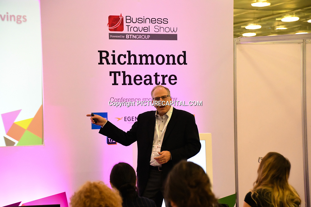 Michael Smith of Yapta speaker at at Business Travel Show 2020 and travel technology europe on 26th February 2020, Olympia London, UK.