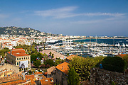 Cannes, French Riviera, France. The Yacht marina in the background