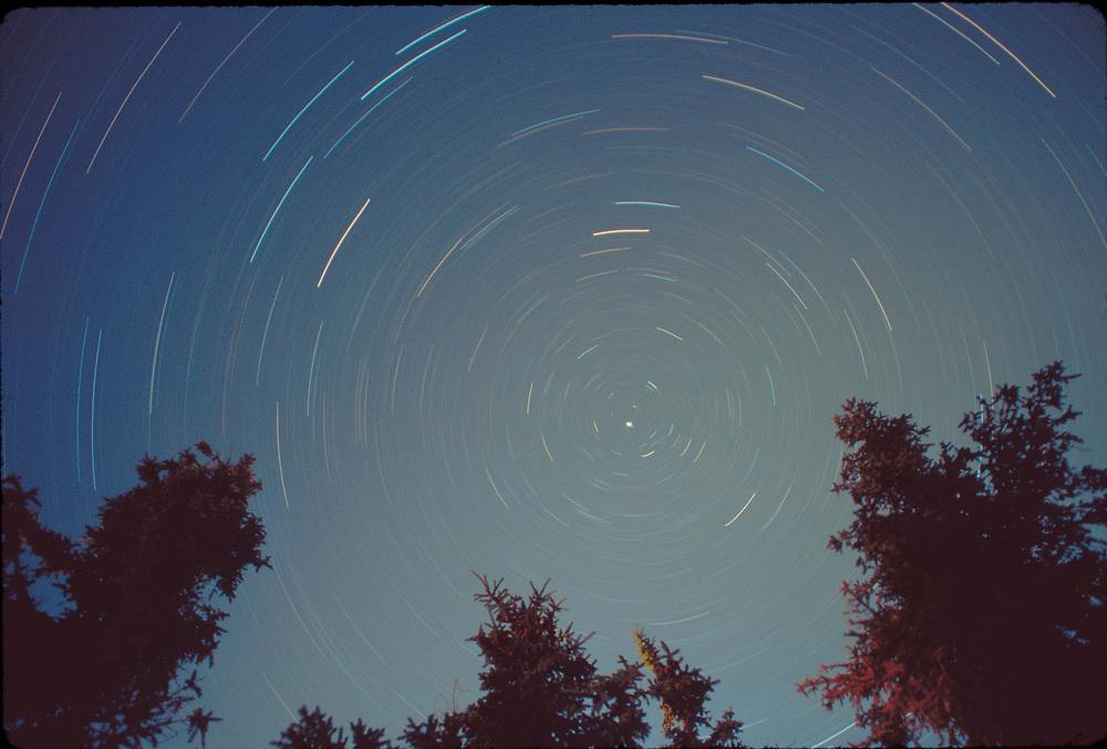 Alaska. Brooks Range. 3 hour exposure of a starry night.