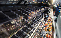 Near empty shelves are seen at a grocery store as residents prepare for the coming of hurricane Irma Friday, September 8, 2017 in Hollywood, FL, USA. Photo by /Paul Chiasson/CP/ABACAPRESS.COM