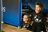 Volunteers kids waiting before thematch of UEFA Champions League at Vicente Calderon Stadium in Madrid. September 28, Spain. 2016. (ALTERPHOTOS/BorjaB.Hojas)