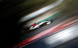 Alfa Romeo's Kimi Raikkonen during day one of pre-season testing at the Circuit de Barcelona-Catalunya.