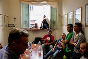 Operai della Trw occupano la sede di Confindustria  dopo la notizia della chiusura imminente della fabbrica.<br />  Livorno 17 ottobre  2014 . Daniele Stefanini /  OneShot